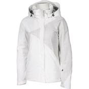 Karbon Emerald Womens Insulated Ski Jacket, Arctic White-White Print, medium