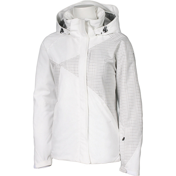 Karbon Emerald Womens Insulated Ski Jacket, Arctic White-White Print, 600