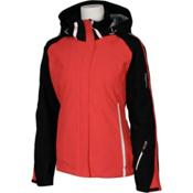 Karbon Ruby Womens Insulated Ski Jacket, Black-Paradise-Arctic White-Ar, medium