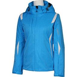 Karbon Amber Womens Insulated Ski Jacket, Blue Print-Arctic White, 256