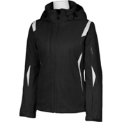 Karbon Amber Womens Insulated Ski Jacket, Black Print-Arctic White, medium