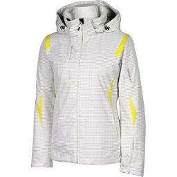 Karbon Amber Womens Insulated Ski Jacket, White Print-Yellow, 256