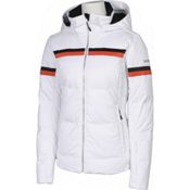 Karbon Pascal Womens Insulated Ski Jacket, Arctic White-Persimmon-Black, medium