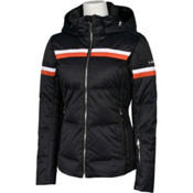 Karbon Pascal Womens Insulated Ski Jacket, Black-Persimmon-Arctic White, medium