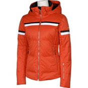 Karbon Pascal Womens Insulated Ski Jacket, Persimmon-Arctic White-Black, medium