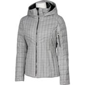 Karbon Amper Womens Insulated Ski Jacket, Arctic White Tweed, medium