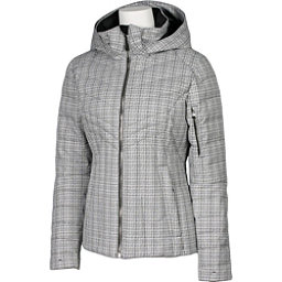 Karbon Amper Womens Insulated Ski Jacket, Arctic White Tweed, 256