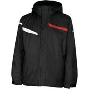 Karbon Jupiter Mens Insulated Ski Jacket, Black-Black-Red-Arctic White, medium