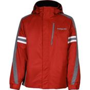Karbon Saturn Mens Insulated Ski Jacket, Red-Smoke-Arctic White, medium