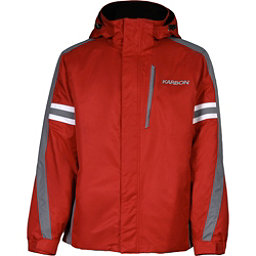 Karbon Saturn Mens Insulated Ski Jacket, Red-Smoke-Arctic White, 256