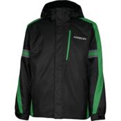 Karbon Saturn Mens Insulated Ski Jacket, Black-Fern-Smoke, medium