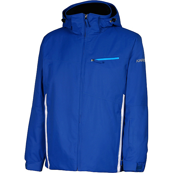 Karbon Pluto 16 Mens Insulated Ski Jacket, Royal Blue-Arctic White-Electr, 600