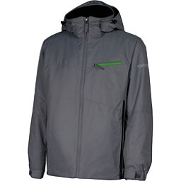 Karbon Pluto Mens Insulated Ski Jacket, Smoke-Black-Fern, 256