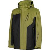Karbon Granite Mens Insulated Ski Jacket, Moss-Black-Black, medium