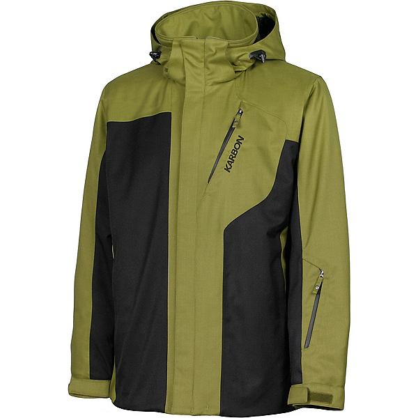Karbon Granite Mens Insulated Ski Jacket, Moss-Black-Black, 600