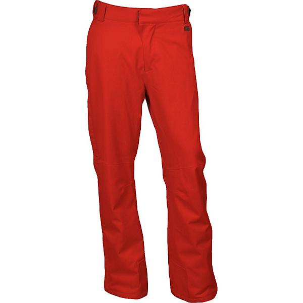 Karbon Rock Mens Ski Pants, Red-Charcoal, 600