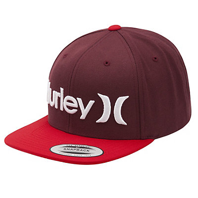 Hurley One and Only Snapback Hat, Mahogany, viewer