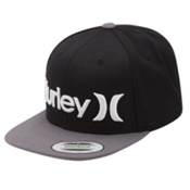 Hurley One and Only Snapback Hat, Dark Grey, medium