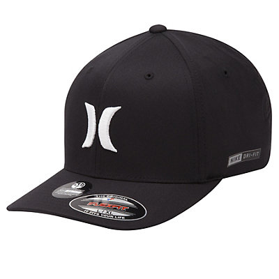 Hurley Dri-Fit One And Only Hat, Black-White, viewer