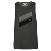 Hurley Icon Slash Push Through Tank Mens T-Shirt, Black Heather, medium