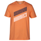 Hurley Icon Slash Push Through Mens T-Shirt, Bright Mandarin Heather, medium