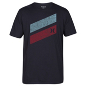 Hurley Icon Slash Push Through Mens T-Shirt, Black, medium