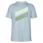 Hurley Icon Slash Push Through Mens T-Shirt, Cool Mint, medium