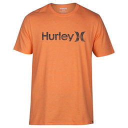 Hurley One And Only Push Through Mens T-Shirt, Bright Mandarin Heather, 256