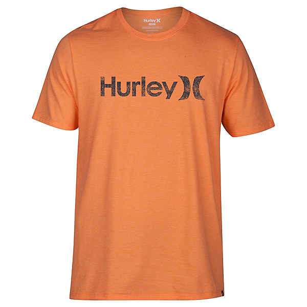 Hurley One And Only Push Through Mens T-Shirt, Bright Mandarin Heather, 600
