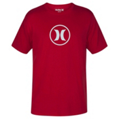 Hurley Circle Icon Dri-Fit Mens T-Shirt, Gym Red, medium