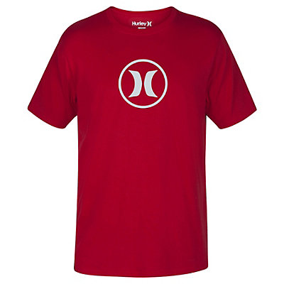 Hurley Circle Icon Dri-Fit Mens T-Shirt, Gym Red, viewer