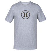 Hurley Circle Icon Dri-Fit Mens T-Shirt, Dark Grey, medium