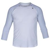 Hurley Dri-Fit Icon 3/4 Surf Shirt Mens Rash Guard, White, medium