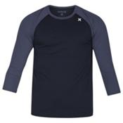 Hurley Dri-Fit Icon 3/4 Surf Shirt Mens Rash Guard, Black, medium