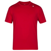 Hurley Dri-Fit Icon Surf Shirt Mens Rash Guard, Gym Red, medium