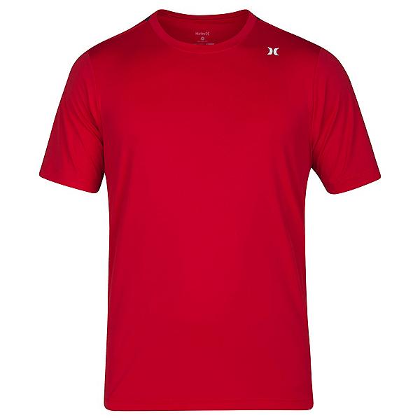 Hurley Dri-Fit Icon Surf Shirt Mens Rash Guard, Gym Red, 600