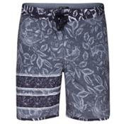 Hurley Phantom Block Party Rosewater Mens Board Shorts, Black, medium