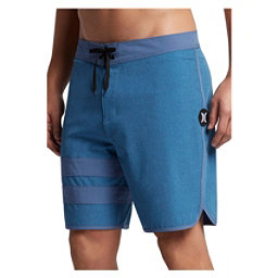 Hurley Phantom Block Party Heather 2.0 Mens Board Shorts, Blue Moon, 256