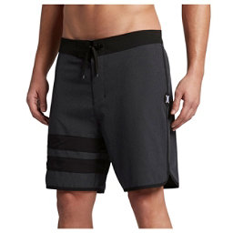 Hurley Phantom Block Party Heather 2.0 Mens Board Shorts, Black, 256