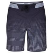 Hurley Phantom Block Party Hyperweave Speed Mens Board Shorts, Black, medium