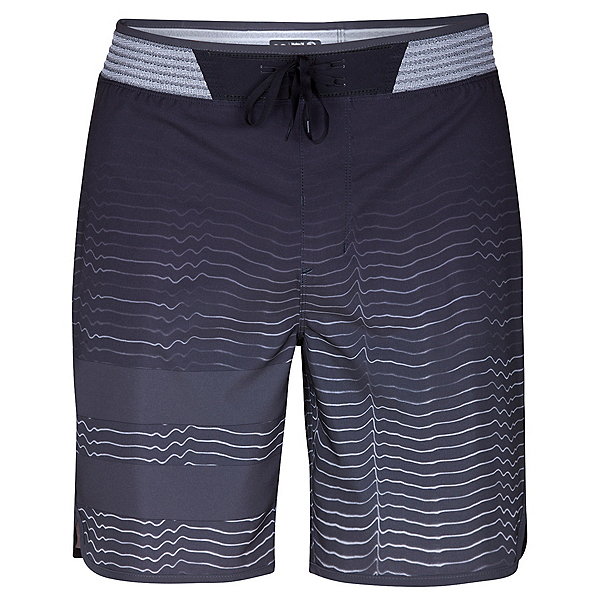 Hurley Phantom Block Party Hyperweave Speed Mens Board Shorts, Black, 600