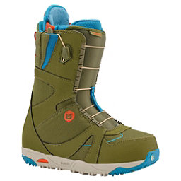 Burton Emerald Womens Snowboard Boots, Olive-Teal-Red, 256