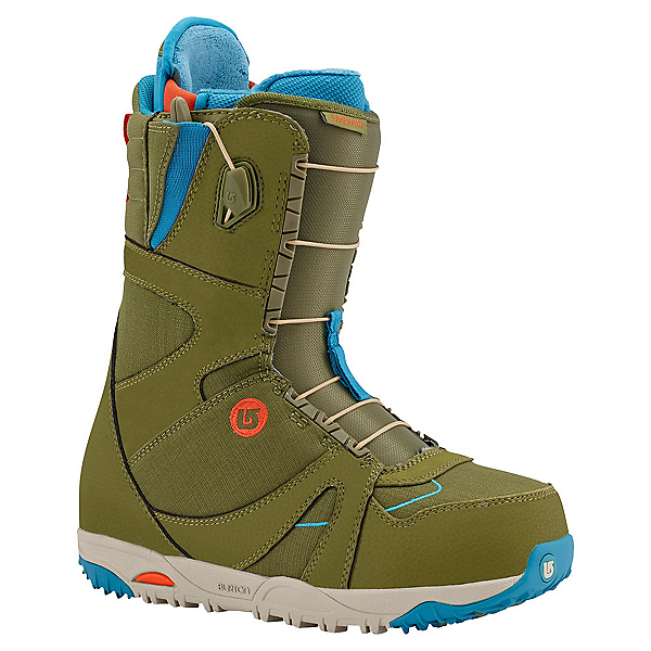 Burton Emerald Womens Snowboard Boots, Olive-Teal-Red, 600