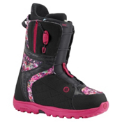 Burton Mint Asian Fit Womens Snowboard Boots, Black-Floral Pixel, medium