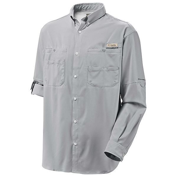 Columbia PFG Tamiami II Long Sleeve Mens Shirt, Cool Grey, 600