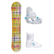 Joyride Gift Yellow Venus Girls Complete Snowboard Package, , medium