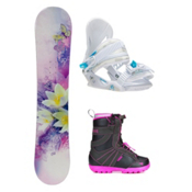 Black Fire Special Lady Purple Dahlia Girls Complete Snowboard Package, , medium