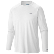 Columbia PFG Blood and Guts III Long Sleeve Knit Shirt, White, medium