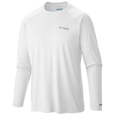 Columbia PFG Blood and Guts III Long Sleeve Knit Shirt, White, viewer