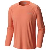 Columbia PFG Blood and Guts III Long Sleeve Knit Shirt, Bright Peach, medium